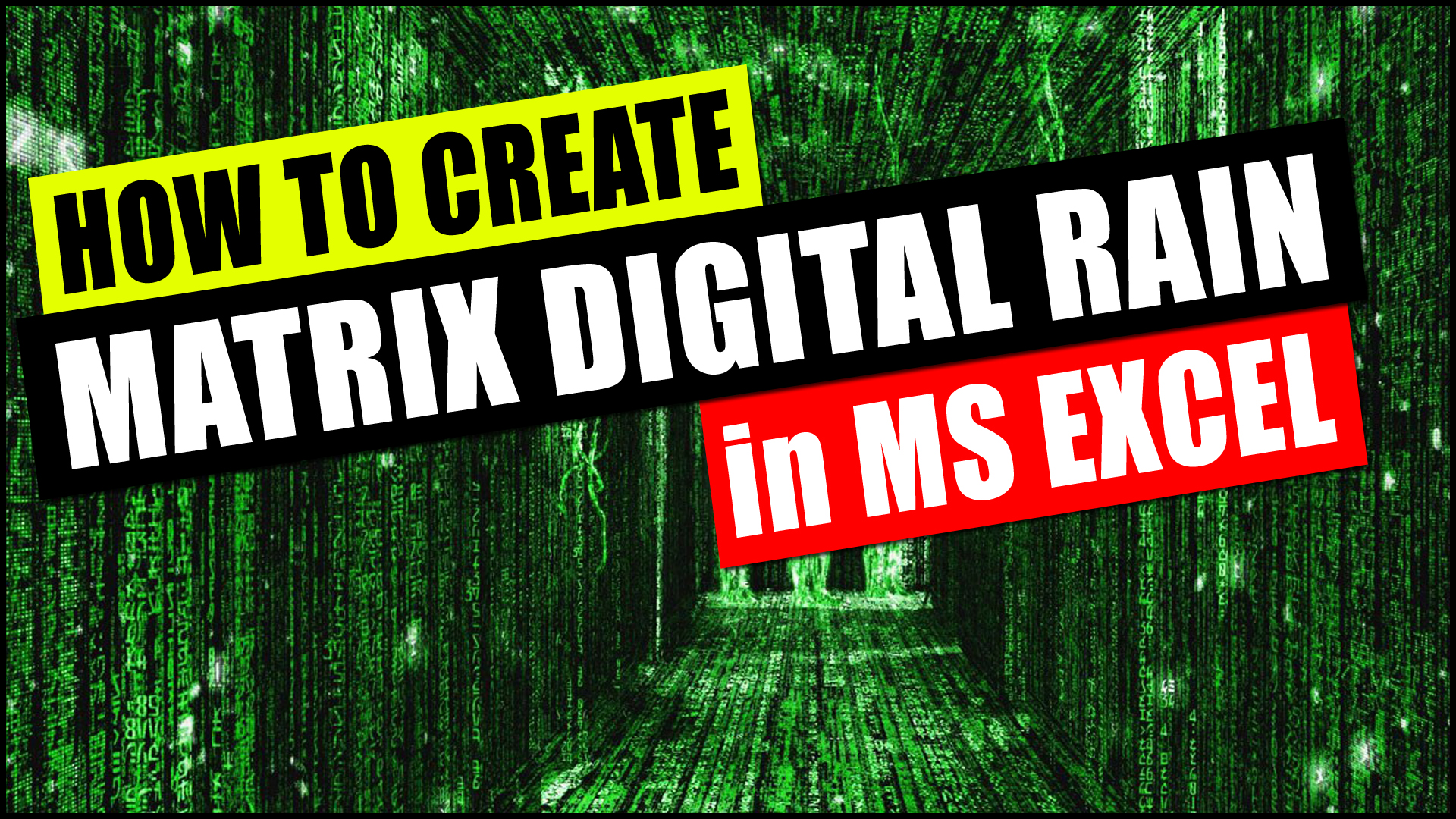 Matrix Digital Rain in Excel