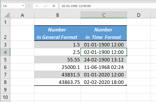 Excel Date and Time