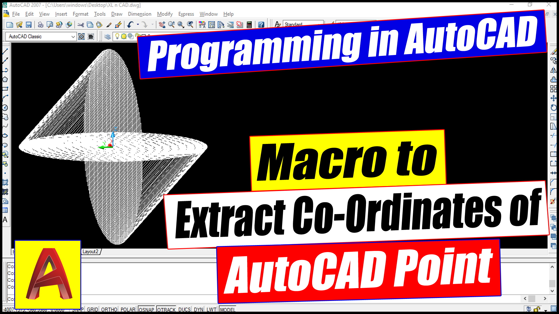 Macro to Extract details of AutoCAD Points