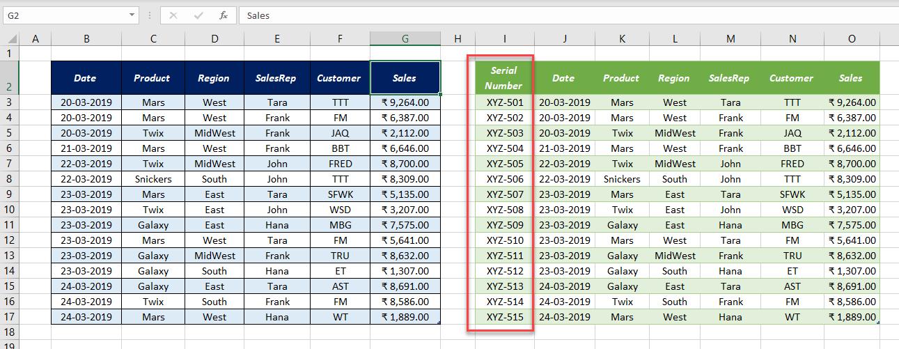 Add an Index Column using Power Query