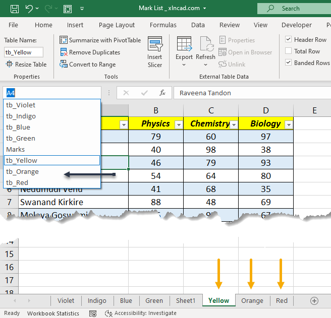 Combine Data from Multiple Worksheets (Tables) using Power Query