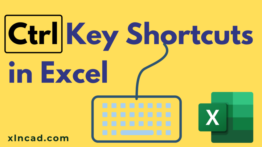 Ctrl Key Shortcuts in Excel