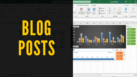 Blog Posts on Excel
