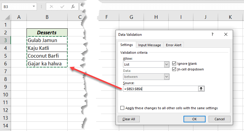 Source for drop-down list
